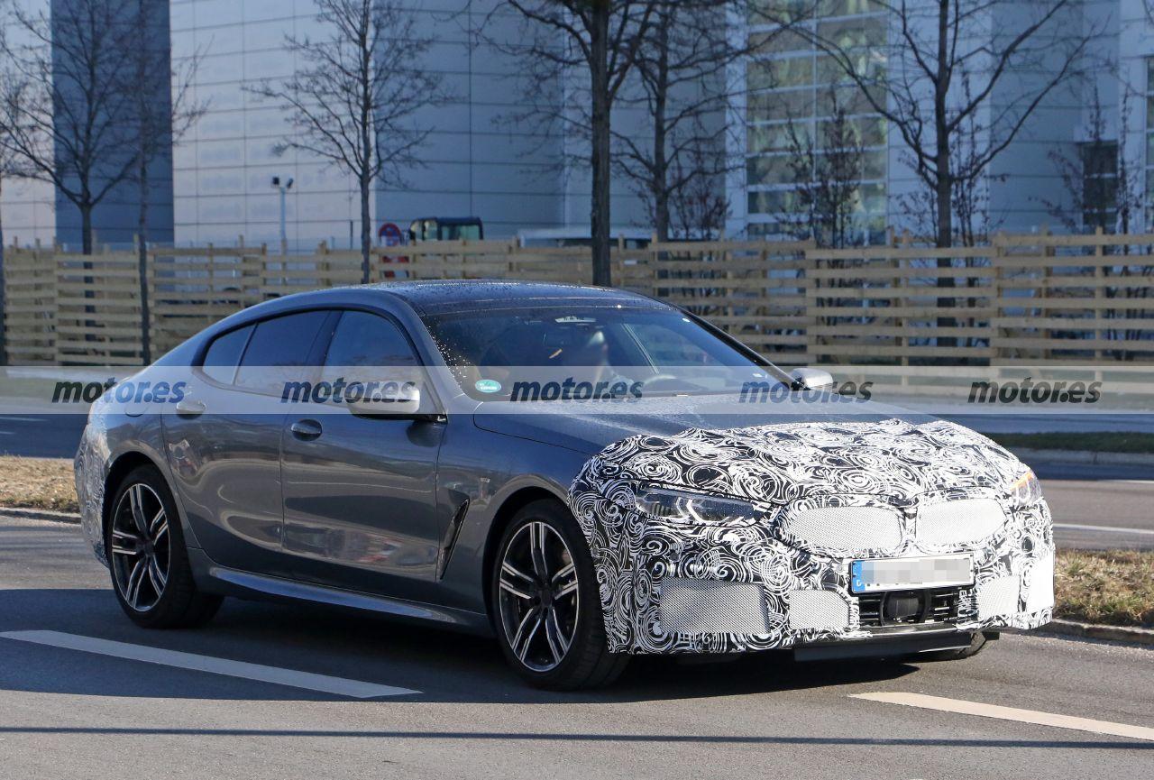 Foto espía BMW Serie 8 Gran Coupé Facelift 2023 - exterior