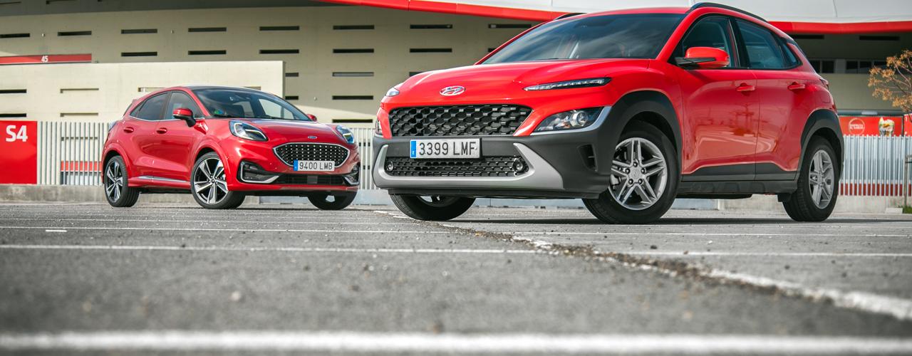 Comparativa Hyundai KONA vs Ford Puma, tan próximos y distantes (Con vídeo)