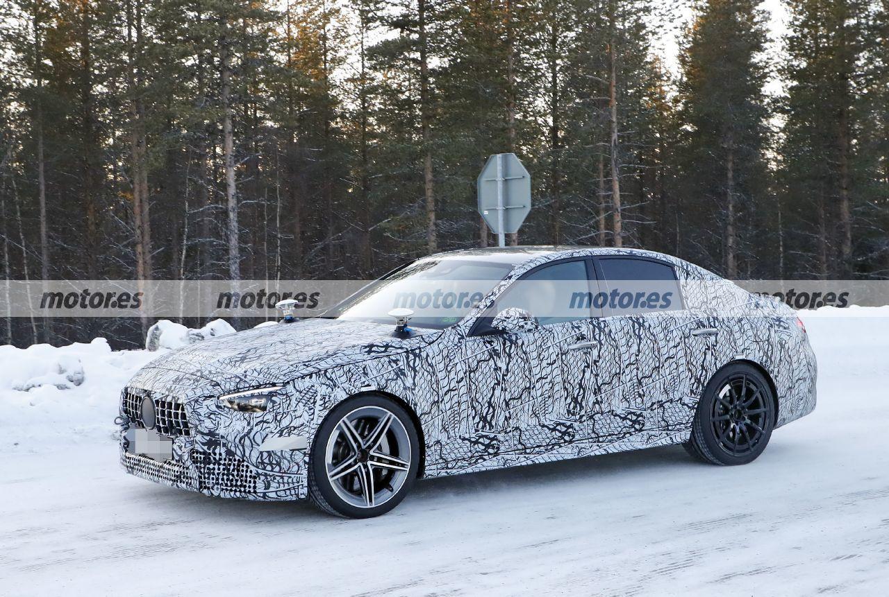 Foto espía Mercedes-AMG C 63 e 2022 - exterior