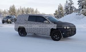 Los prototipos del futuro Jeep Compass de 7 plazas se enfrentan a la nieve