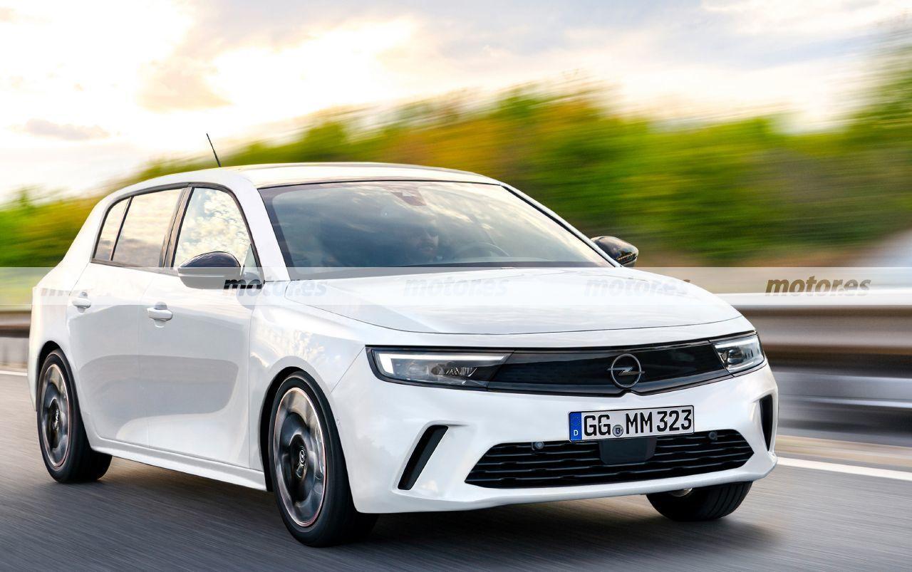 Nuevo render del Opel Astra 2022 más cercano a producción, llega a finales de año
