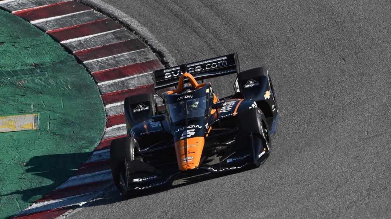 O'Ward lidera y Grosjean destaca en Laguna Seca en un test... ¡en el que faltó gasolina!