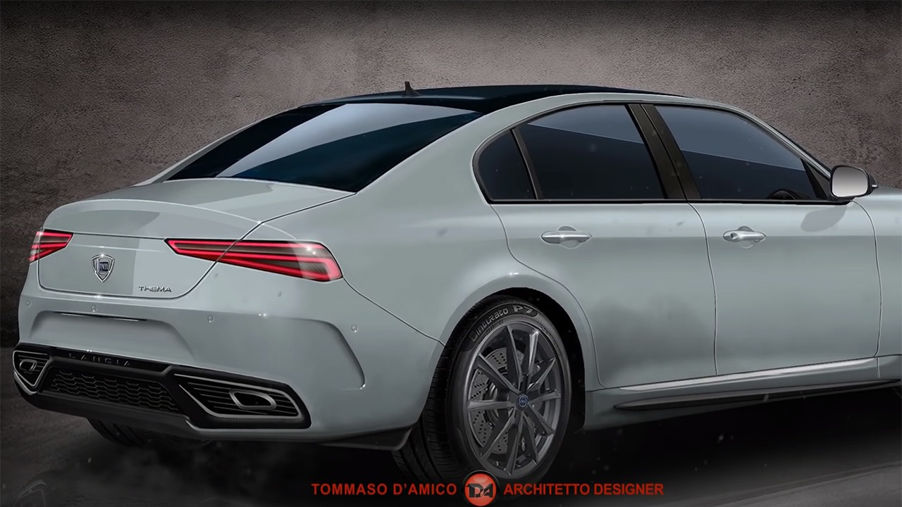 Recreación del Lancia Thema 2022 - posterior