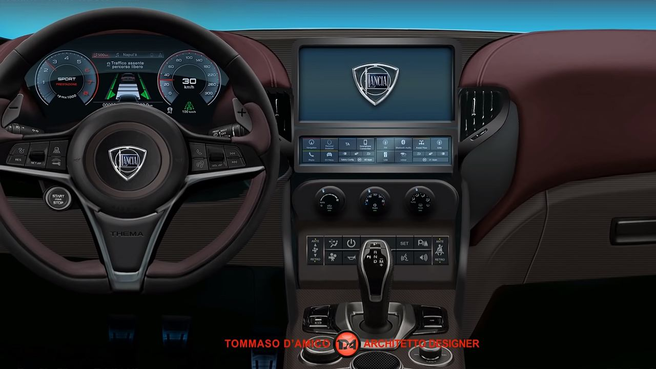 Recreación del Lancia Thema 2022 - interior