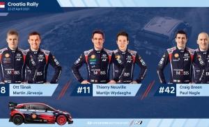 Tänak, Neuville y Breen, pilotos de Hyundai en el Rally de Croacia
