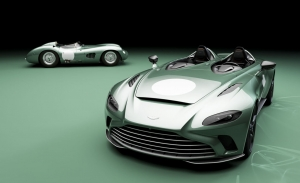 El Aston Martin V12 Speedster estrena una atractiva versión inspirada en el DBR1