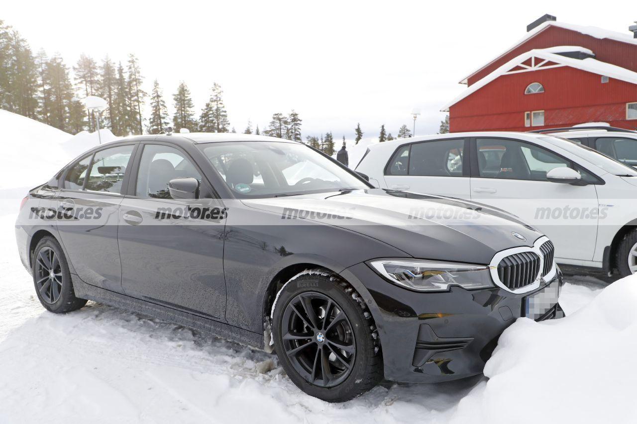 Foto espía BMW Serie 3 Facelift 2023 - exterior