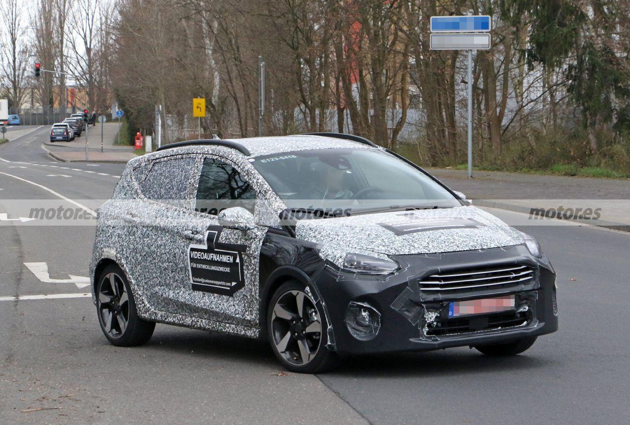 Foto espía Ford Fiesta Active Facelift 2022 - exterior