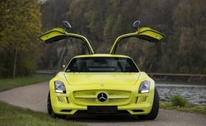 Una de las 9 unidades fabricadas del Mercedes SLS AMG Electric Drive en venta