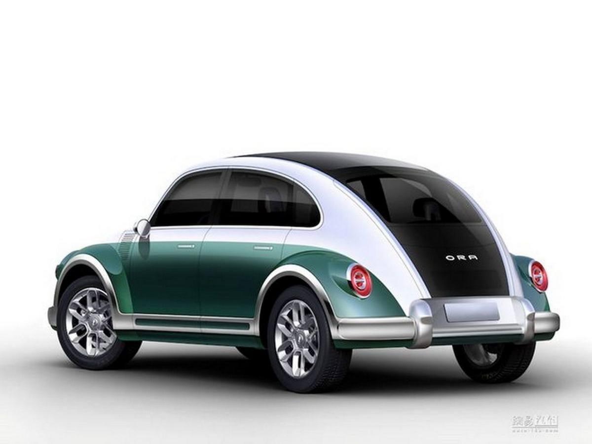 El Ora Punk Cat es una copia del Escarabajo original con 4 puertas y motor eléctrico