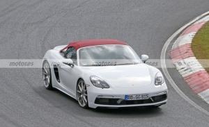 El nuevo Porsche 718 Spyder T posa en fotos espía en Nürburgring