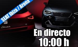 Sigue en directo la presentación de los SEAT Ibiza y Arona Facelift 2021