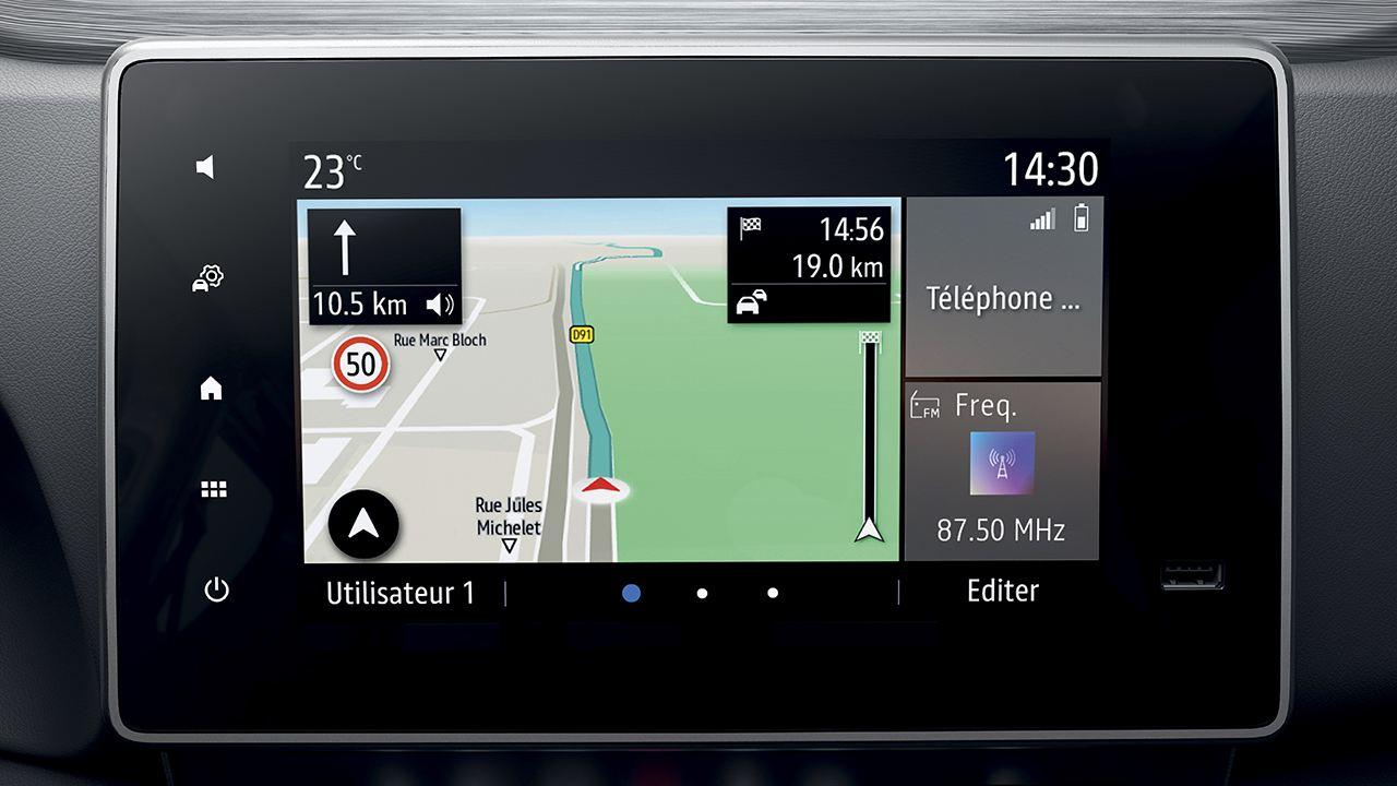 Renault Express 2021 - pantalla táctil