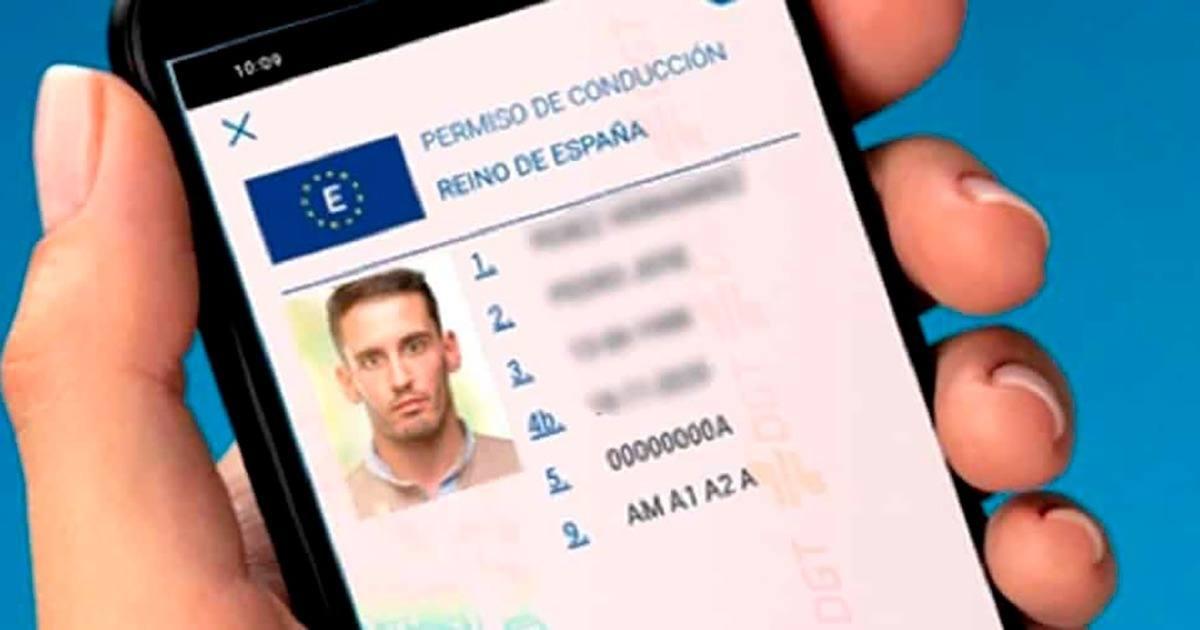 Detalle de la aplicación MiDGT, un carnet de conducir virtual