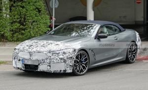 El nuevo BMW Serie 8 Cabrio 2022 cazado al detalle, ¡interior incluido!