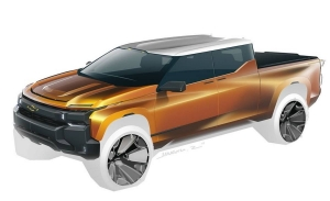 Un boceto de GM parece adelantar el futuro Chevrolet Silverado eléctrico