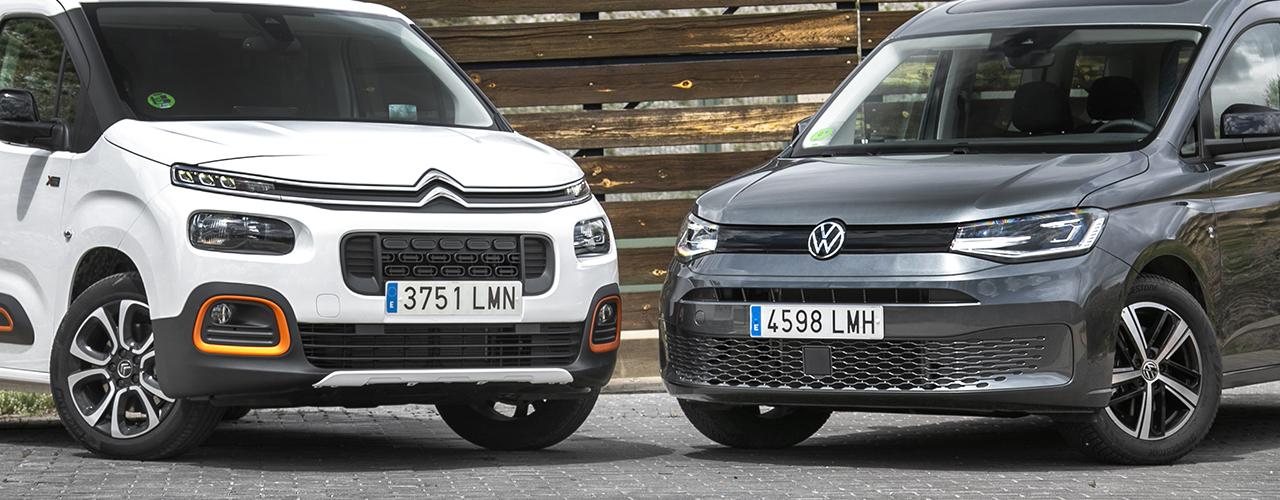 Prueba comparativa Volkswagen Caddy vs Citroën Berlingo (con vídeo)