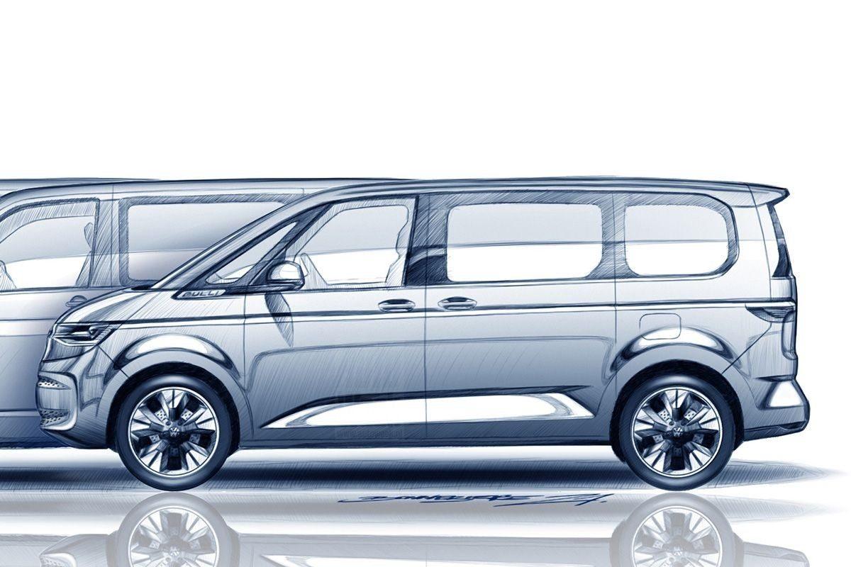 Boceto del Volkswagen Multivan 2022