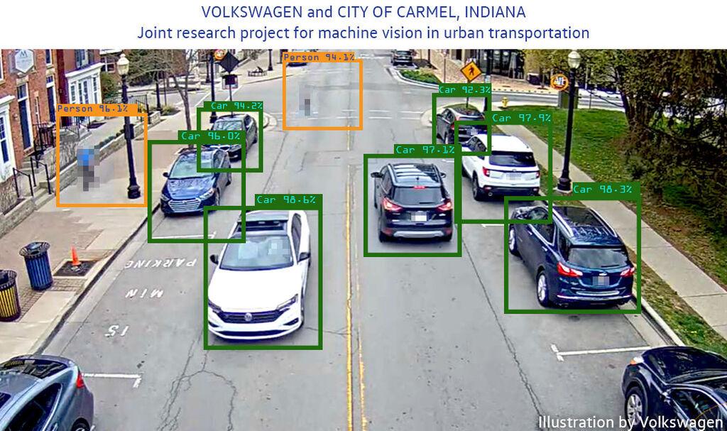 Volkswagen prueba su sistema de control de tráfico en Carmel (EEUU)