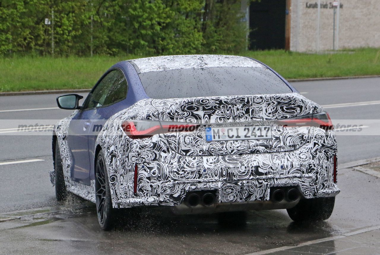 Foto espía BMW M4 CSL 2022 - exterior