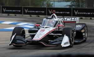 Josef Newgarden arrasa en la 2ª qualy de Detroit; gran mejora de Palou en cuarto lugar