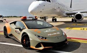 El Lamborghini Huracán vuelve a ser el 'Follow Me' del aeropuerto de Bolonia