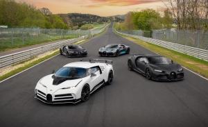 Cuatro modelos de Bugatti de pruebas en Nürburgring baten récord de precio
