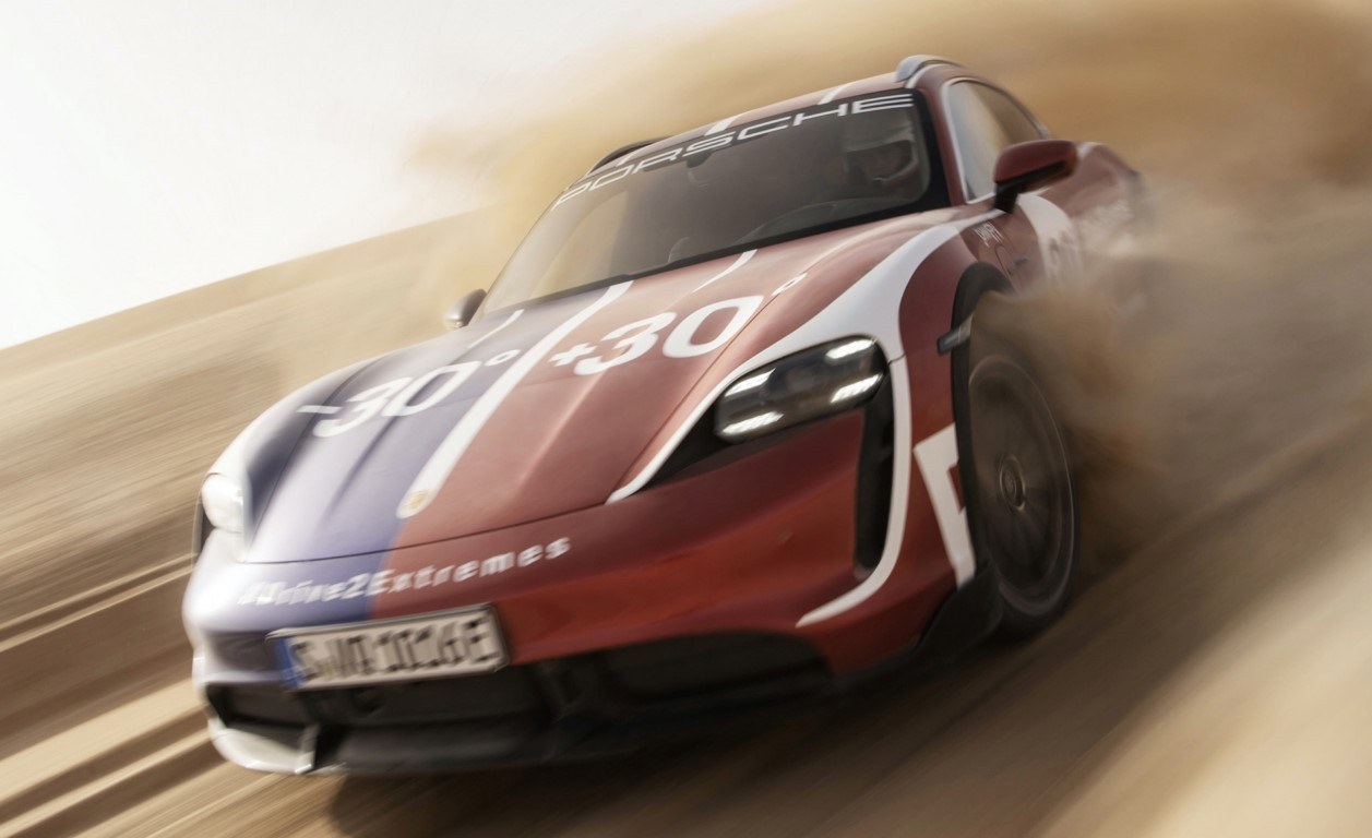 Porsche Taycan Turbo Cross Turismo, extremo sobre hielo y en el desierto [vídeo]