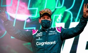 Primer podio de Aston Martin en la F1 tras un primer relevo espectacular de Vettel