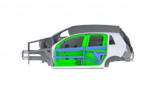 El nuevo concepto de puertas sin pilar B de Benteler abre los interiores