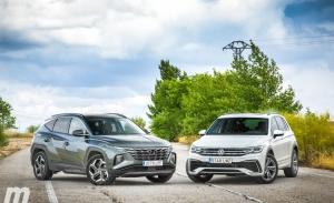 Prueba comparativa Hyundai Tucson 2021 vs Volkswagen Tiguan 2021 (con vídeo)