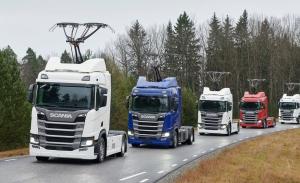 """Continental y Siemens trabajan en pantógrafos para """"eHighways"""" o autopistas con cables eléctricos en altura para camiones"""