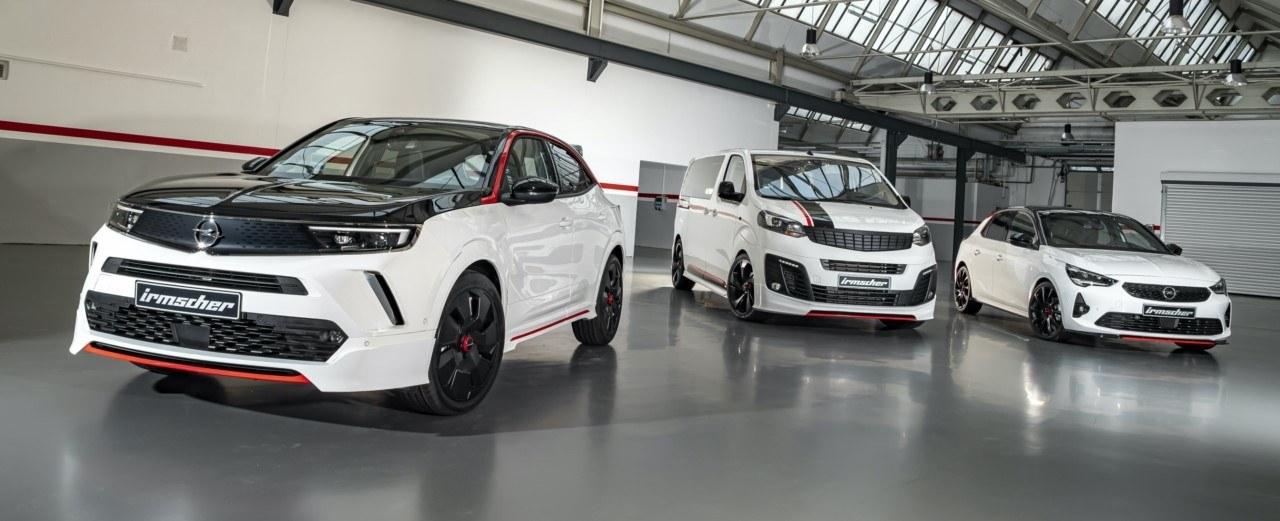 Foto Irmscher Opel Corsa, Mokka y Zafira Serie Blanca