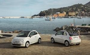 España - Junio 2021: El Fiat 500 muestra su mejor cara en verano