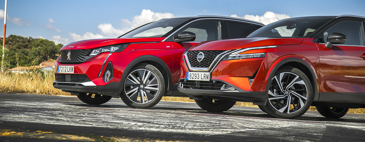 Comparativa Nissan Qashqai 2021 vs Peugeot 3008 2021, versatilidad incondicional (con vídeo)
