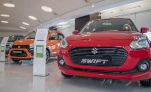 India - Julio 2021: El Suzuki Swift roza la victoria en un mercado en recuperación