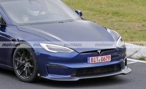 Avistado de nuevo el Tesla Model S Plaid + en Nürburgring