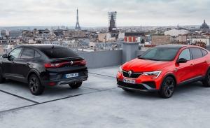 Francia -  Septiembre 2021: El Renault Arkana triunfa en casa