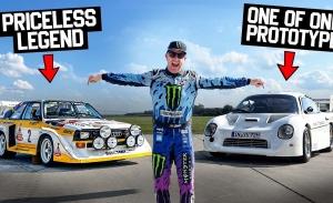 Ken Block pilota el Audi Quattro S1 E2 y del Grupo S de la marca alemana