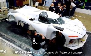 El Peugeot 9X8 se deja ver en un reportaje televisivo en Francia